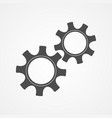 cooperation concept black contour cog and gear vector image