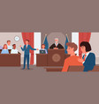 court judgment law justice concept vector image
