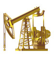 detailed gold oil pump pumpjack vector image