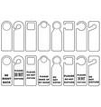 door knob hangers set vector image