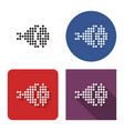 dotted icon ham in four variants with short vector image
