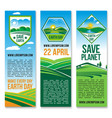 earth day banners for save planet nature vector image vector image