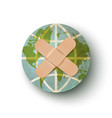 earth planet with plaster vector image vector image