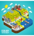 Eco City Concept vector image