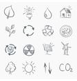 eco sketch icon set vector image vector image