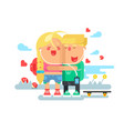 empathy boy and girl vector image vector image