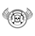extreme skull with emblem vector image vector image