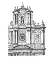 faade of the church of st paul and st louis at vector image
