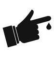 Finger drop blood icon simple style