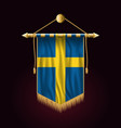 flag of sweden festive vertical banner wall vector image vector image