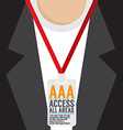 Flat Design Access All Area Staff Card vector image