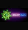 glow coronavirus pathogen with inscription vector image