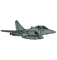 gray jet fighter vector image