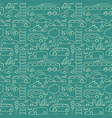 green seamless transport pattern vector image