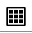 grid icon for web or mobile app vector image vector image