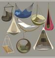 hammock set furniture collection for rest vector image