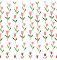 hand drawn watercolor pink pastel tulips seamless vector image vector image