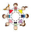 happy children play icon vector image