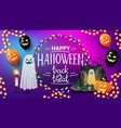 happy halloween trick or treat greeting poster vector image