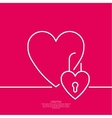 Heart with a lock vector image