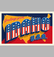 idaho usa 4th july retro postcard vector image