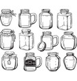 jar set vector image
