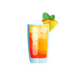 mai tai cocktail icon on dark background in flat vector image vector image
