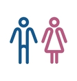 male and female sign vector image