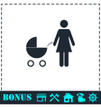 Maternity icon flat vector image vector image