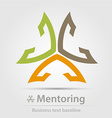 Mentoring business icon vector image vector image