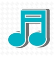 music note icon design vector image vector image