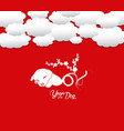oriental happy chinese new year 2018 year of the vector image