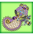 original digital draw line art ornate flower vector image vector image