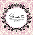 ornate frame on pink damask background vector image vector image