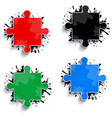 parts of multicolored puzzles vector image vector image