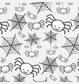 pattern white spider funny cute cartoon vector image vector image