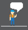 pixel man vector image