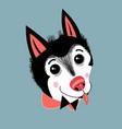 portrait a puppy huskies vector image vector image