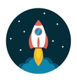 Rocket launch flat icon vector image