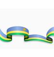 rwandan flag wavy abstract background vector image vector image