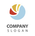 sea logo design vector image