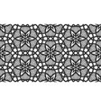 seamless pattern flower background black grid tile vector image