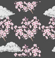 seamless pattern with sakura vector image vector image