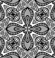 Seamless Vintage Black and White Lace Pattern vector image