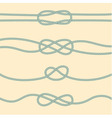 Set of marine knots vector image
