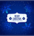 shiny blue sparkle christmas background vector image