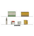 spain girona flat landmarks vector image vector image