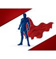 super hero man standing vector image vector image
