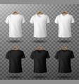 t-shirt mockup black and white male t shirts set vector image