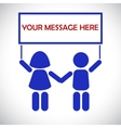 The message from the children vector image